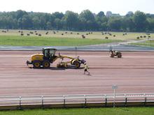 Work is under way at Prairie Racecourse.