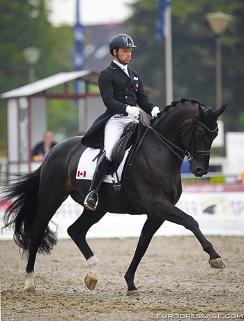 David Marcus and Chrevi's Capital were second in the Grand Prix at CDI3* Verden, Germany, scoring a personal best of 72.30%.   © www.eurodressage.com