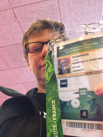 Jane Thompson and her accreditation for WEG.