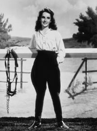 Elizabeth Taylor in National Velvet.