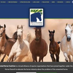 Unwanted Horse Coalition launches new website