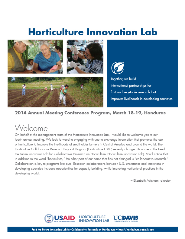 2014 Annual Meeting Feed the Future Innovation Lab for Horticulture
