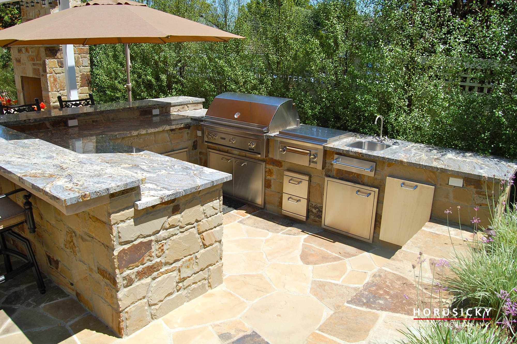 Outdoor Grill Outdoor Kitchens And Bbq Grills Horusicky Construction