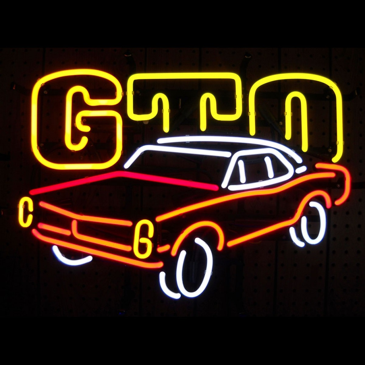 Garage Art Neon Signs Hossrods Gto Neon Sign Hot Rod Accessories Garage