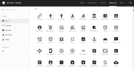 Material icons 由 Google 推出的免費圖示,超過 2000 款素材開源免費使用
