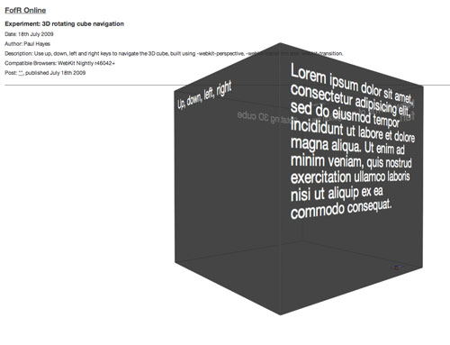 Creating an animated 3D CSS cube using 3D transforms \u2014 Paul Hayes
