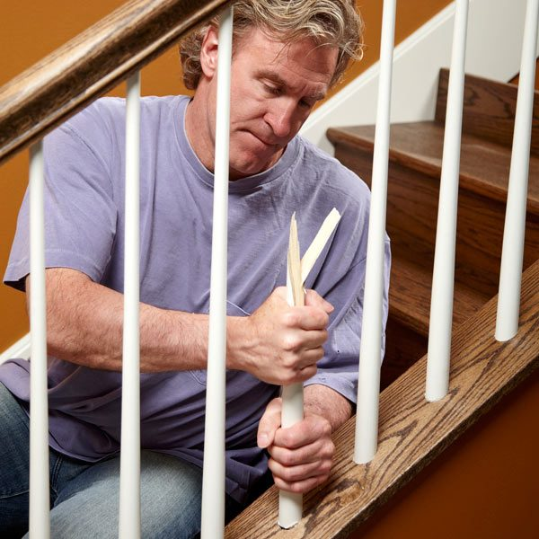 How To Install Stair Spindles The Family Handyman