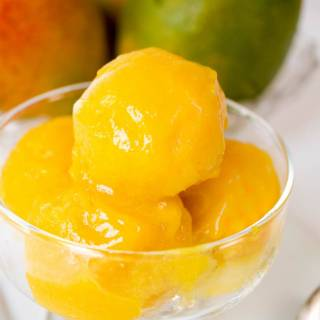 Mango Sorbet - Hostess At Heart