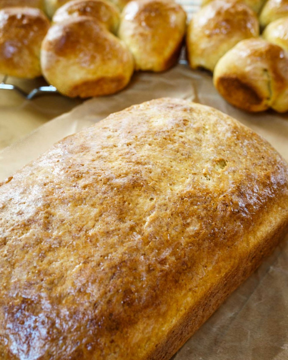 Pumpkin Yeast Bread - #BreadBakers