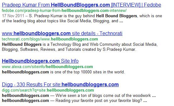 HBB Google Results