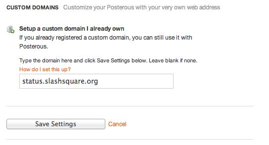 Custom Domain Name For Posterous