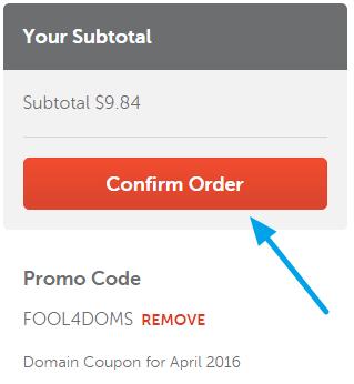 Namecheap Order Confirm