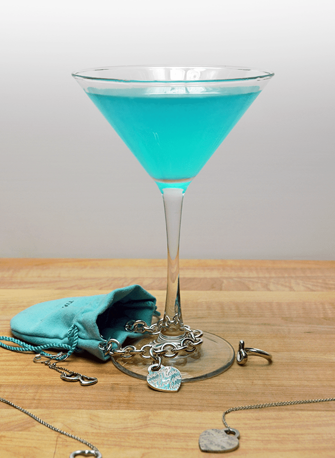 15 Cocktails That Liven Up Any Bridal Party: Tiffany Blue Cosmopolitan