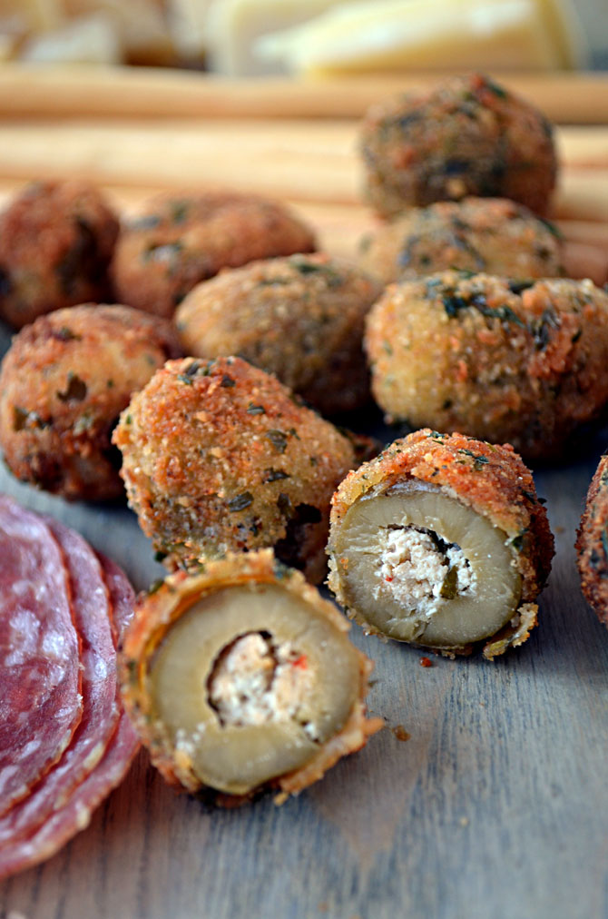 Fried Green Olives Stuffed With Blue Cheese Recipes — Dishmaps