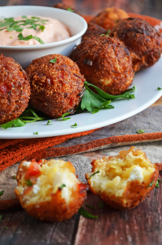 Cheesy Crab Poppers-- this tasty appetizer will have your guests begging for more!