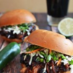 Sweet and Spicy Pulled Pork with Honey Jalapeno Lime Slaw