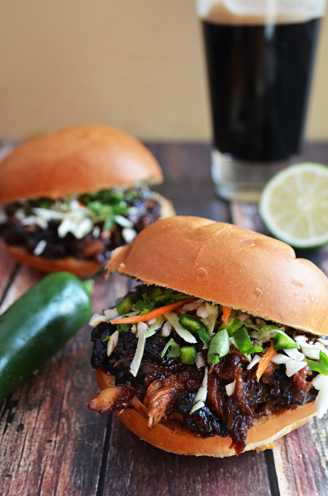 Sweet and Spicy Pulled Pork with Honey Jalapeno Lime Slaw - Host The ...
