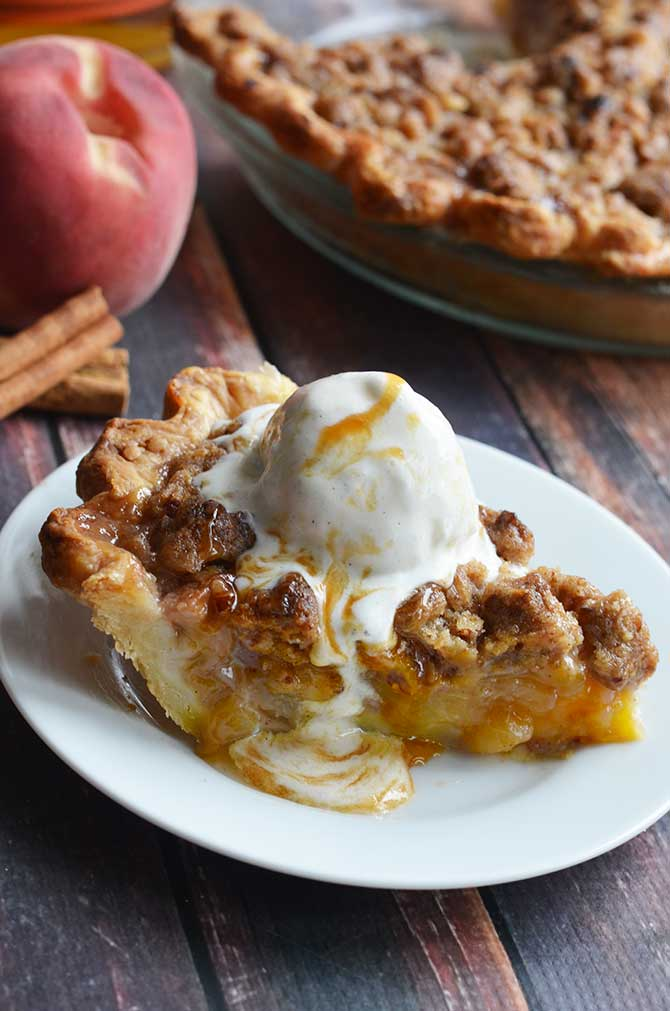 Maple Bourbon Brown Butter Peach Pie. This is probably the most ...