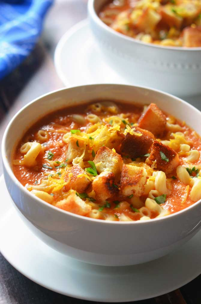 Mac n' Grilled Cheese Tomato Soup. Combining all of your favorite ...