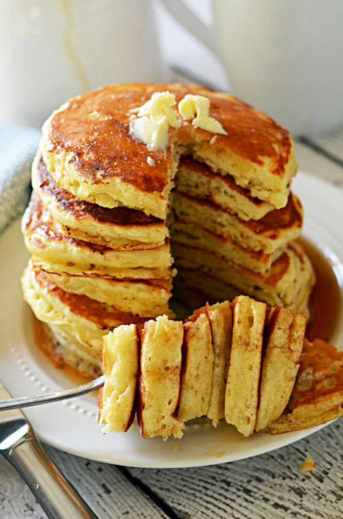 Fluffy Old Fashioned Pancakes. These pancakes are almost as easy as ...