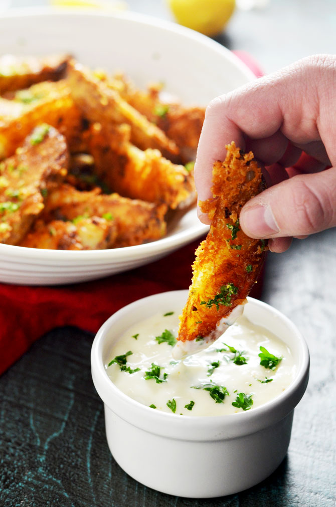 Parmesan and Garlic Crusted Baked Potato Wedges. Crispy, creamy ...