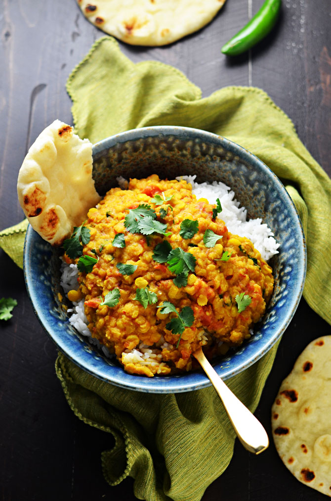 red lentils with ginger red lentil dal vegan spiced lentils indian ...
