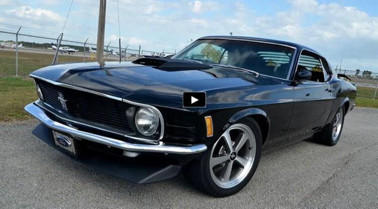 Striking 70 Mustang Fastback 302 Custom In Black Hot Cars