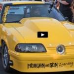 turbo fox body mustang gangster class drag racing winner