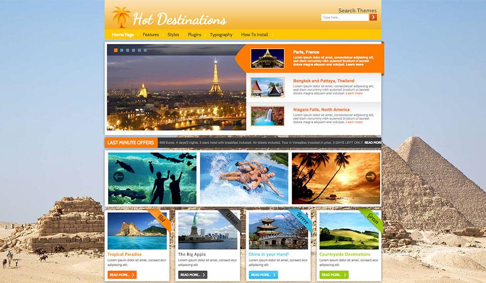 Premium WordPress Themes Collection - HotThemes - wordpress travel themes