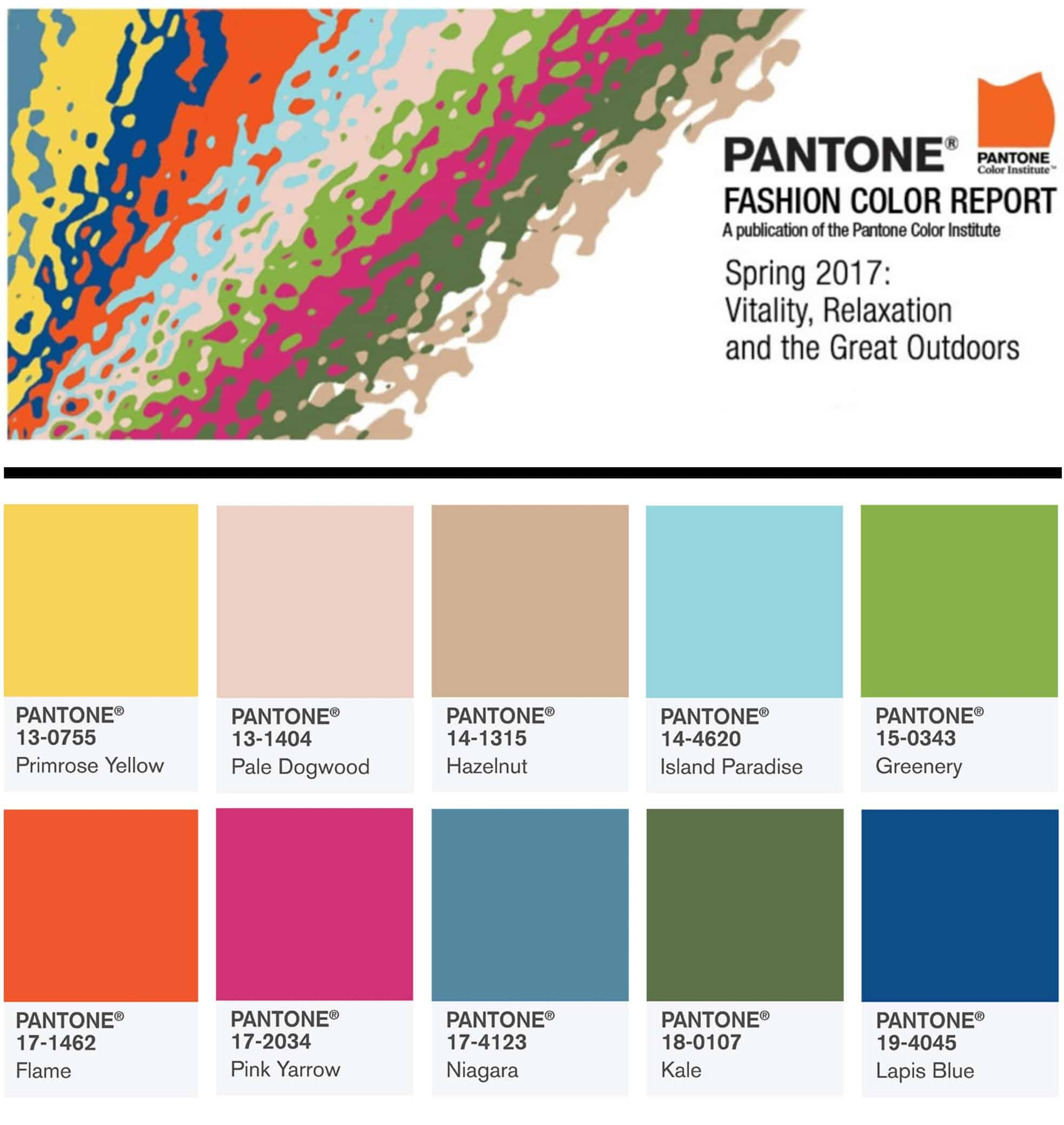Pantone 2017 Pantone S Top 10 Spring Summer 2017 Color Trends Hot Beauty Health