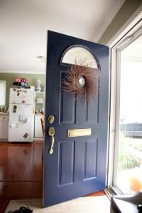 sherwin williams naval | Colored Front Door | Pinterest ...