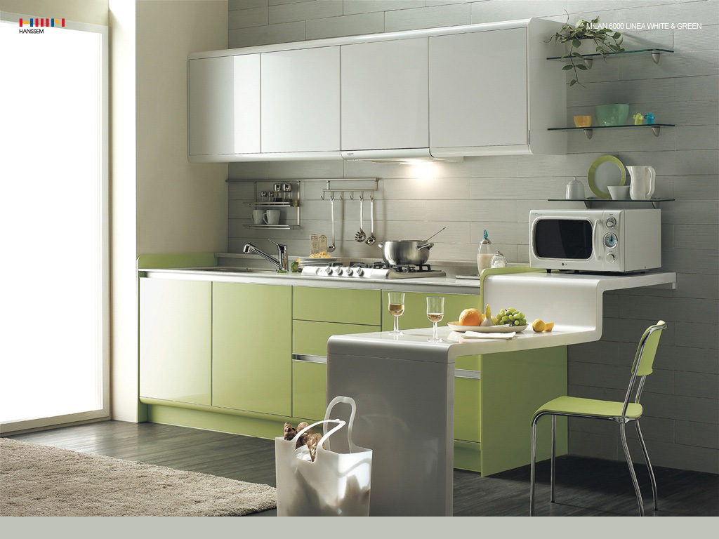 White Green Kitchen Ideas Green Kitchen Modern Interior Design Ideas With White