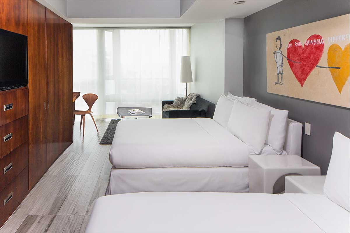 Double Beds Double Double Rooms Luxury Soho Hotels Hotel On Rivington
