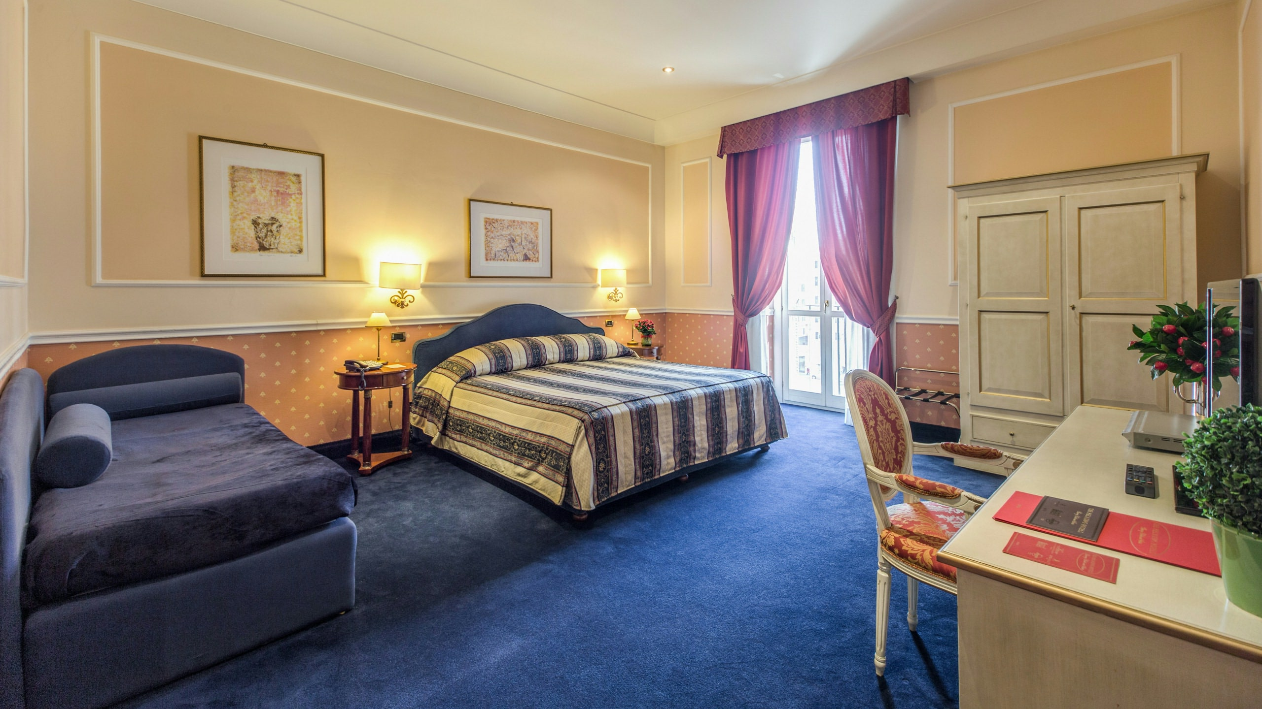 Schlafzimmer Roma Hotel Antico Palazzo Rospigliosi Rom Offizielle Webseite Home