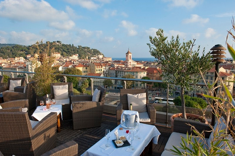 Toit Terrasse Nice Bar Hotel Aston La Scala Nice - Hotels 3a La Collection