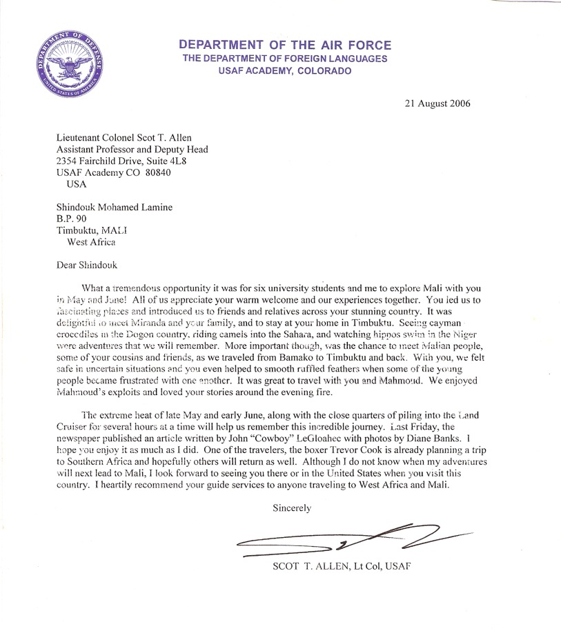 Recommendation Letter Sample Air Force | Ejemplos De Adjetivos Y