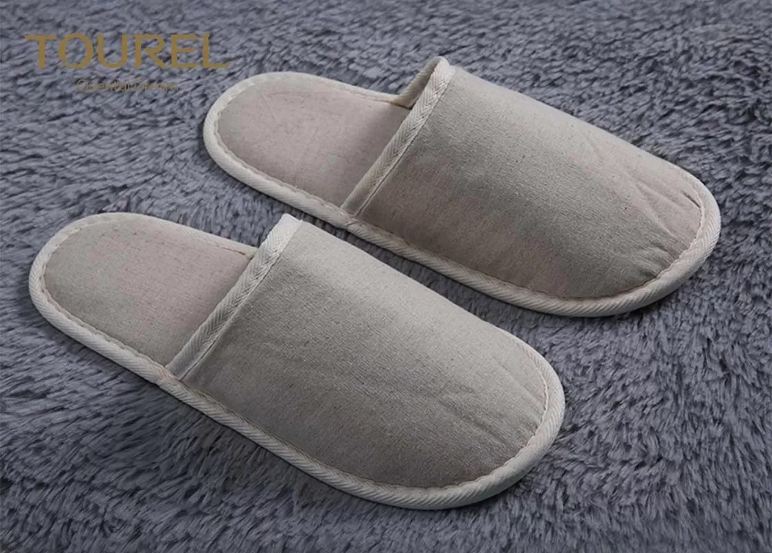 Baby Hotel Slippers Guest Close Toe Cotton Disposable Hotel Slippers White