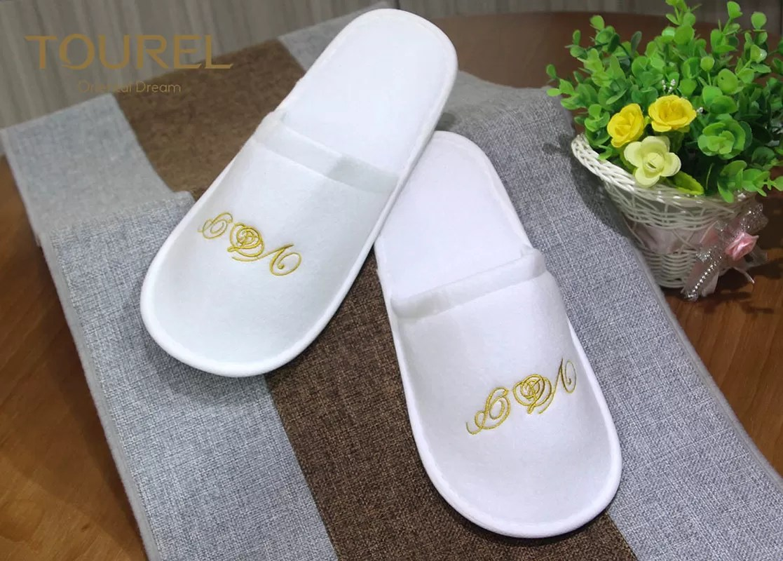 Baby Hotel Slippers White Nap Cloth Slipper Disposable Hotel Slippers With