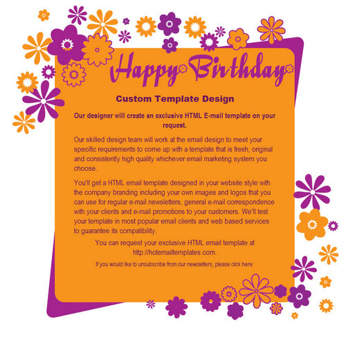 happy birthday email template - Bire1andwap