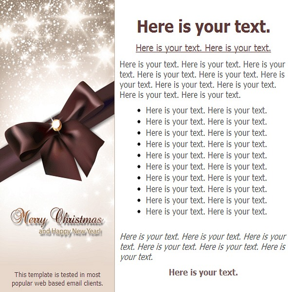 Merry Christmas and Happy New Year! Free HTML E-Mail Templates - merry email template