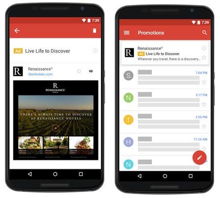 pubblicita nativa gmail google