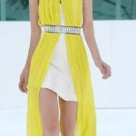 The Sass and Bide dress being modelled on the cat-walk