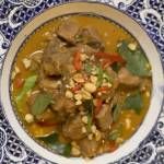 Penang Curry with Braised Beef Shin, Green Peppercorns and Basil