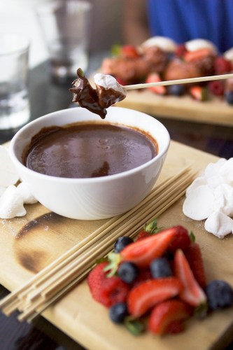 Chocolate Soup - a dessert for two!