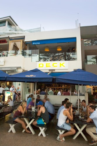 Deck Bar and Dining on the night of a heatwave