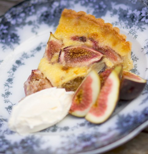 Fig Tart with Fresh Figs and Mascarpone
