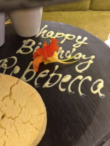 Happy birthday to Rebecca