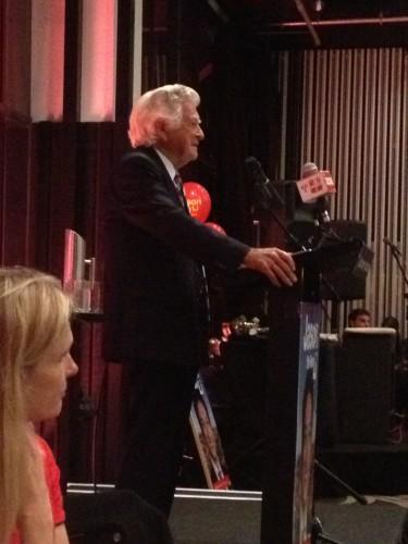 Bob Hawke delivering his speech