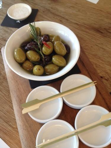 Marinated Mixed Olives:  $7.00