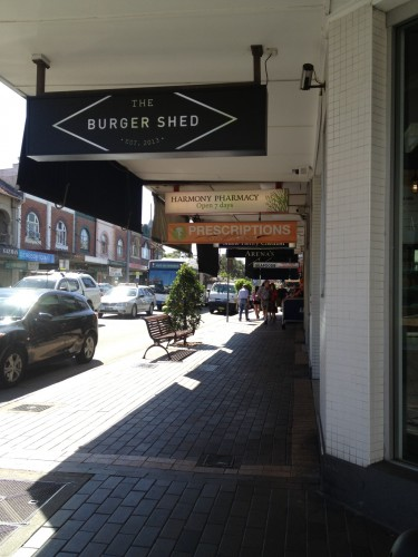 The Burger Shed on the corner of Military Road and Raglan Streets